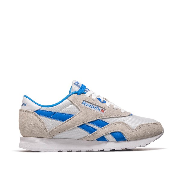 Reebok Wmn CL Nylon  White Beige Blue