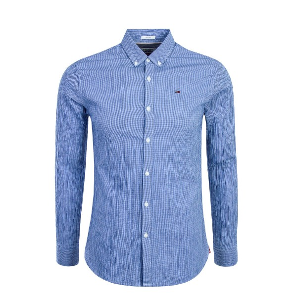 Tommy Hemd Essential Seersucker Blue Wh