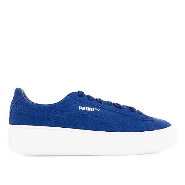 Puma Suede Platform Blue White