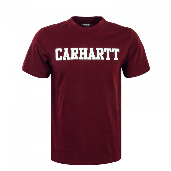 Herren T-Shirt College Cranberry White