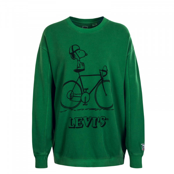 Damen Sweat Crew Snoopy Green