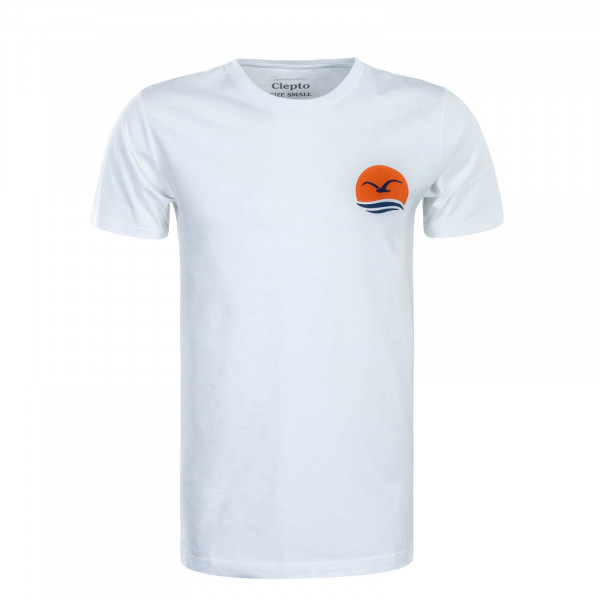 Herren T-Shirt Mocean White