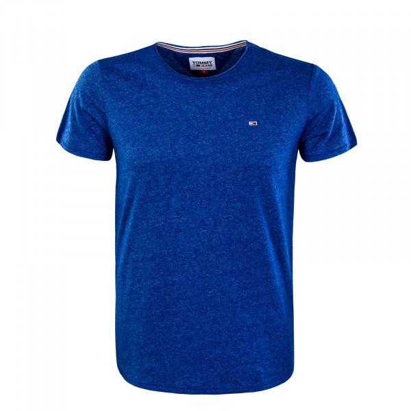 Herren T-Shirt - Slim Jaspe - Cobalt
