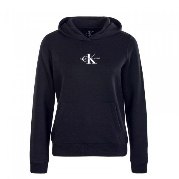 Damen Hoody Monogram Boxy 3072 Black