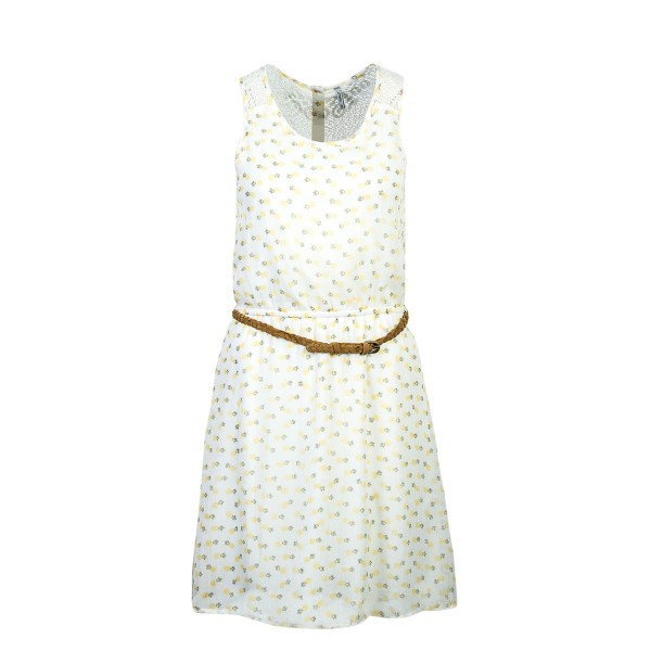 Only Dress Lia Lace White Yellow Pineapp