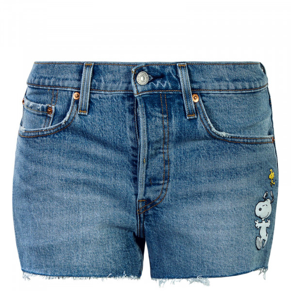 Damen Shorts Peanuts Snooping Blue